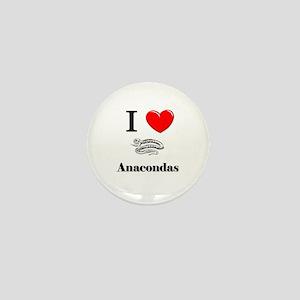 I Love Anacondas Mini Button