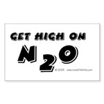 Get high on N2O Rectangle Sticker