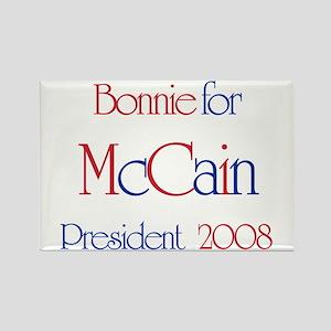 McCain for President - Bonnie Rectangle Magnet