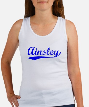Vintage Ainsley (Blue) Women's Tank Top