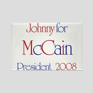 Johnny for McCain 2008 Rectangle Magnet