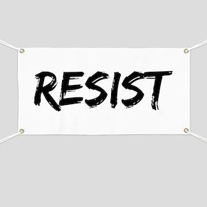 Resist In Black Text Banner