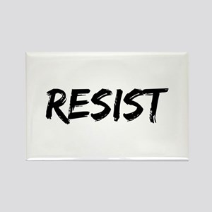 Resist In Black Text Magnets