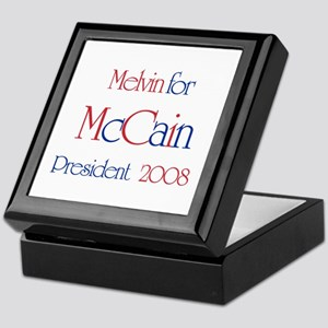 Melvin for McCain 2008 Keepsake Box