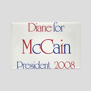 McCain for President - Diane Rectangle Magnet