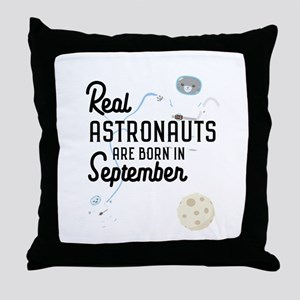 Astronauts are born in September Ci5h Throw Pillow