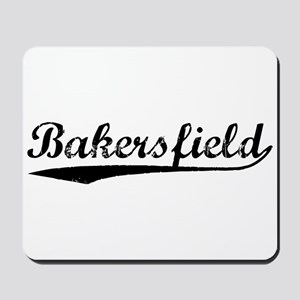 Vintage Bakersfield (Black) Mousepad
