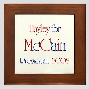 McCain for President - Hayley Framed Tile
