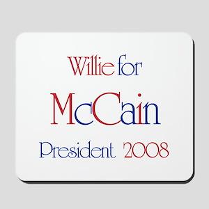 Willie for McCain 2008 Mousepad