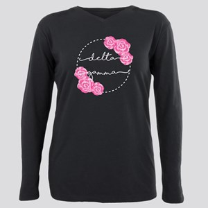 Delta Gamma Floral Plus Size Long Sleeve Tee