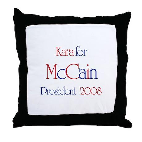 McCain for President - Kara Throw Pillow