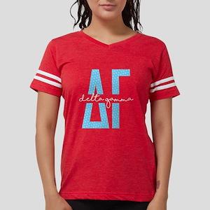 Delta Gamma Polka Dots Womens Football Shirt