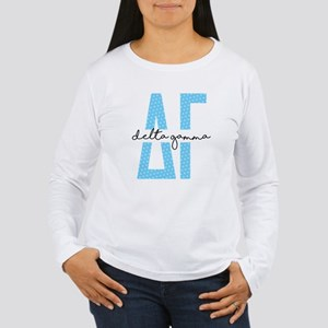 Delta Gamma Polka Dots Women's Long Sleeve T-Shirt