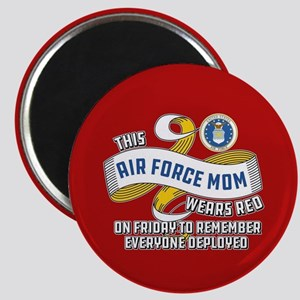 Air Force Mom Wears Red on Friday Magnet