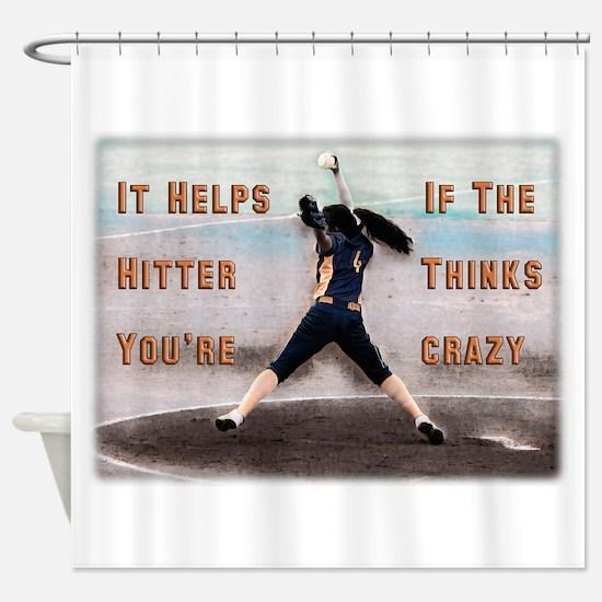 Softball Crazy Shower Curtain