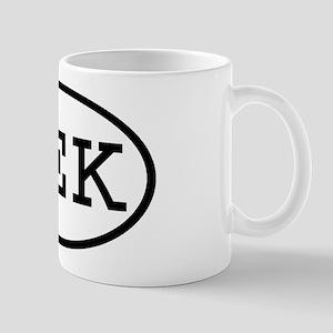 MEK Oval Mug