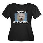 Owned by a Westie Women's Plus Size Scoop Neck Dar