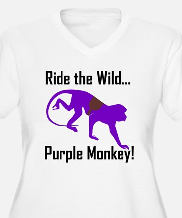 Ride the Wild Purple Monkey T-Shirt