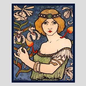 Berthon Girl with Orchards Small Poster
