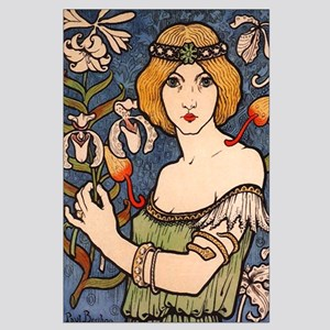 Berthon Girl with Orchards Large Poster