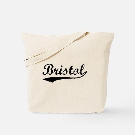 Vintage Bristol (Black) Tote Bag
