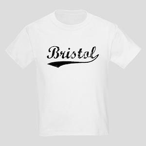 Vintage Bristol (Black) Kids Light T-Shirt