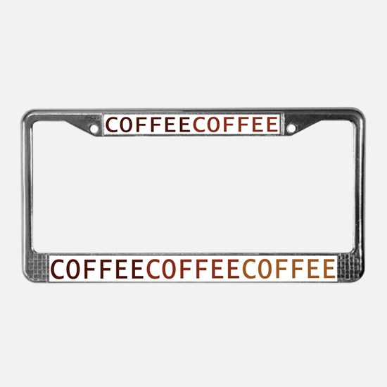 Coffee License Plate Frame