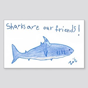 Sharks Are Our Friends-Logo Sticker