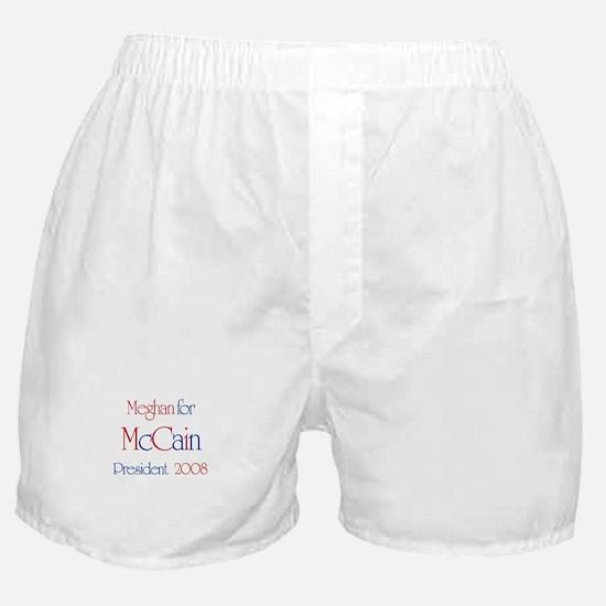 McCain for President - Meghan Boxer Shorts