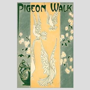 Pigeon Walk Large Poster