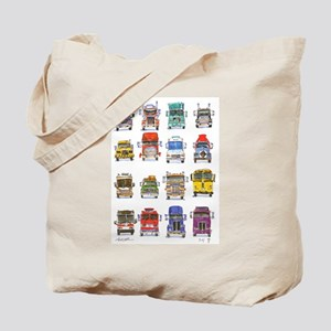 16 Trucks Tote Bag