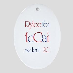 McCain for President - Rylee Oval Ornament