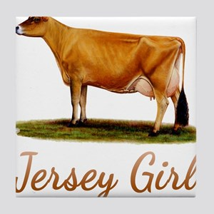 A Real Jersey Girl Tile Coaster