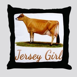 A Real Jersey Girl Throw Pillow