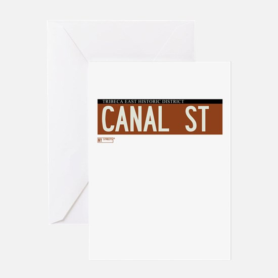 Canal Street in NY Greeting Card