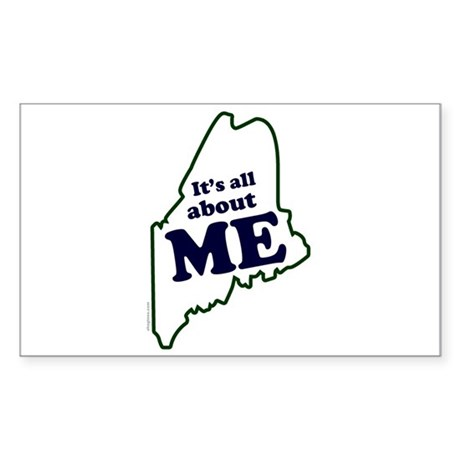 It's All About Maine Rectangle Sticker
