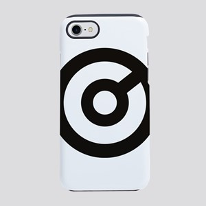 Black V8 Circle iPhone 8/7 Tough Case