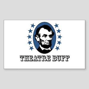 Theatre Buff Rectangle Sticker
