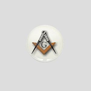 Masonic Square and Compass Mini Button