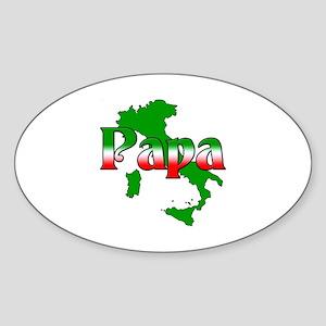 Italian Papa Oval Sticker