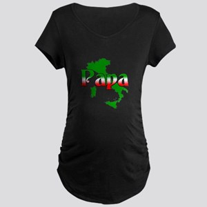 Italian Papa Maternity Dark T-Shirt