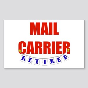 Retired Mail Carrier Rectangle Sticker