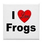 I Love Frogs Tile Coaster
