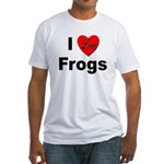 I Love Frogs (Front) Fitted T-Shirt