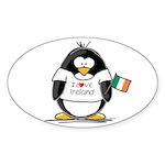 Ireland Penguin Oval Sticker