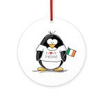Ireland Penguin Ornament (Round)