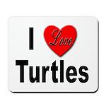 I Love Turtles Mousepad