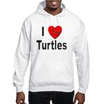 I Love Turtles (Front) Hooded Sweatshirt