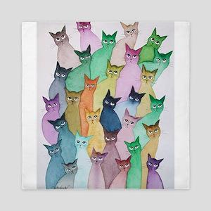 Mallard Creek Stray Cats Queen Duvet
