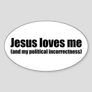 Funny Christian Oval Sticker